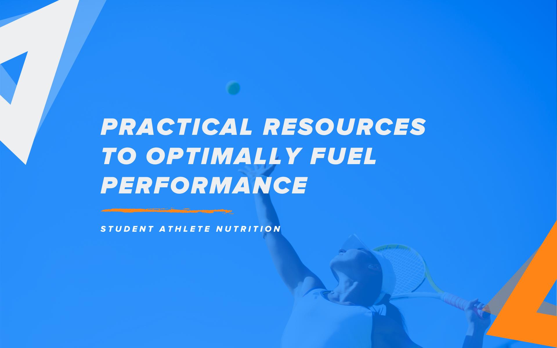 student athlete nutrition
