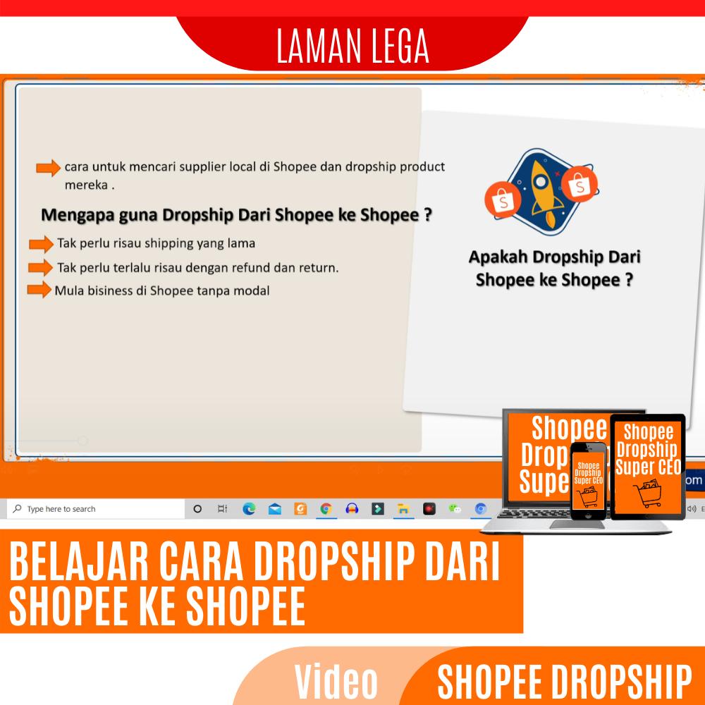cara buat duit dengan dropship shopee ke shopee