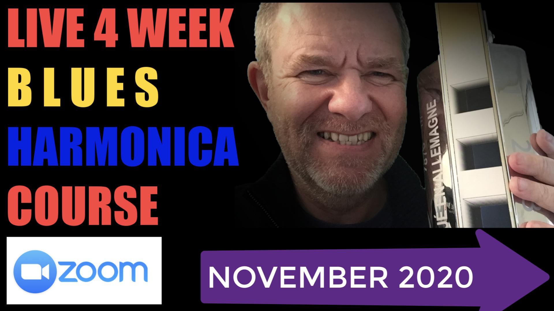 Ben Hewlett Harmonica live classes in november