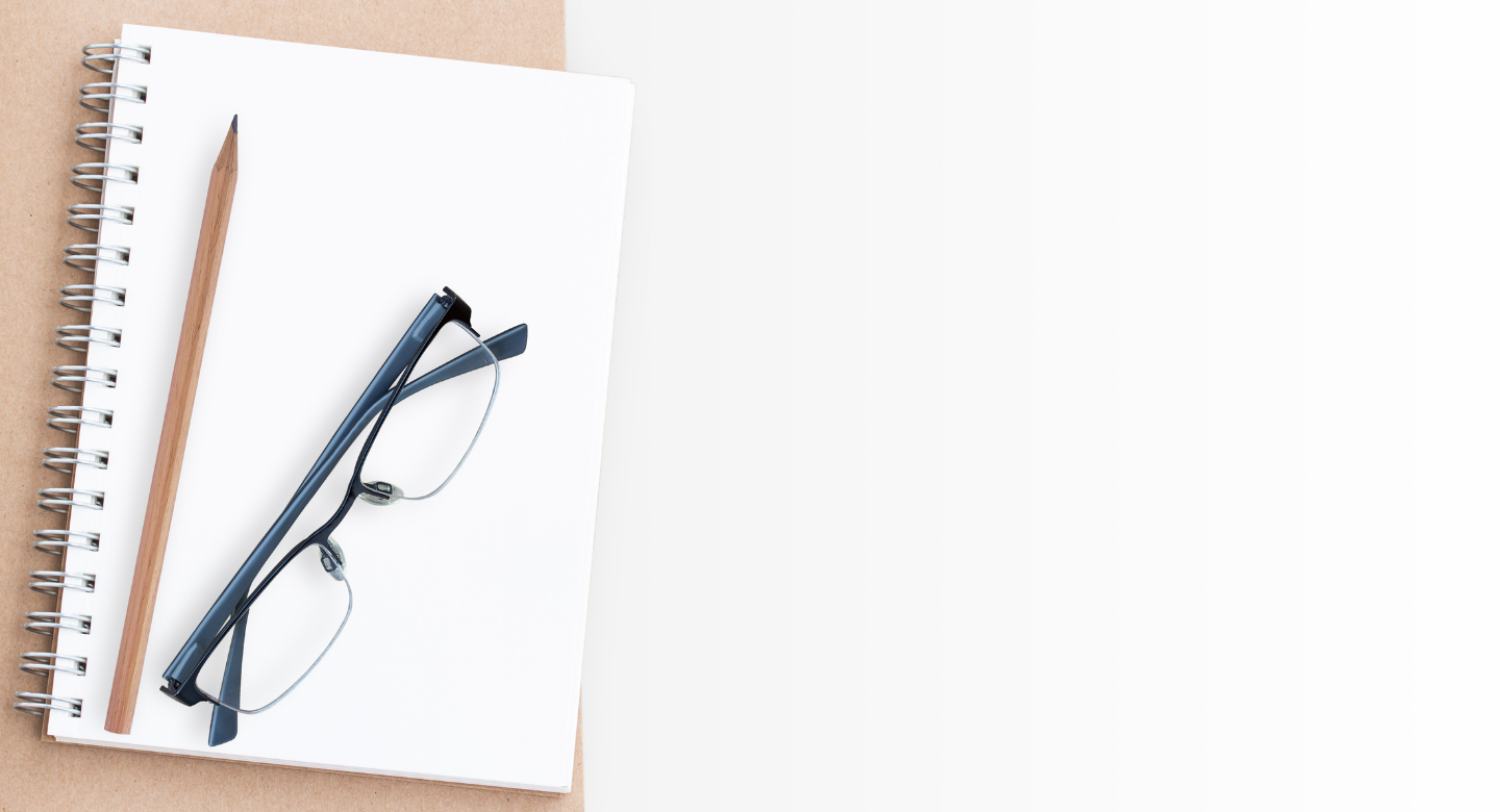 Notebook and Glasses for 1:1 Coaching