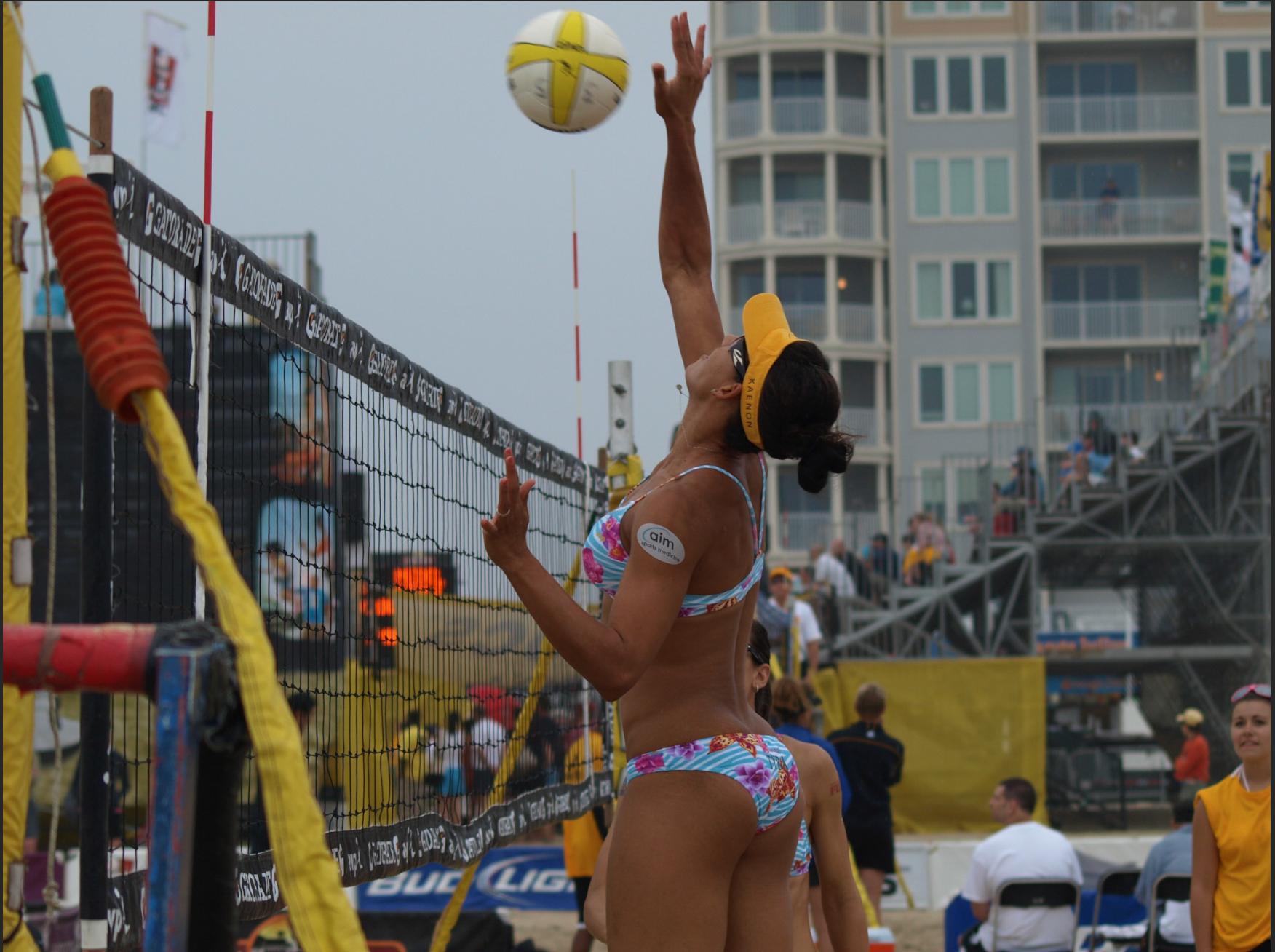 Tyra Turner, AVP Pro, hitting during an event.