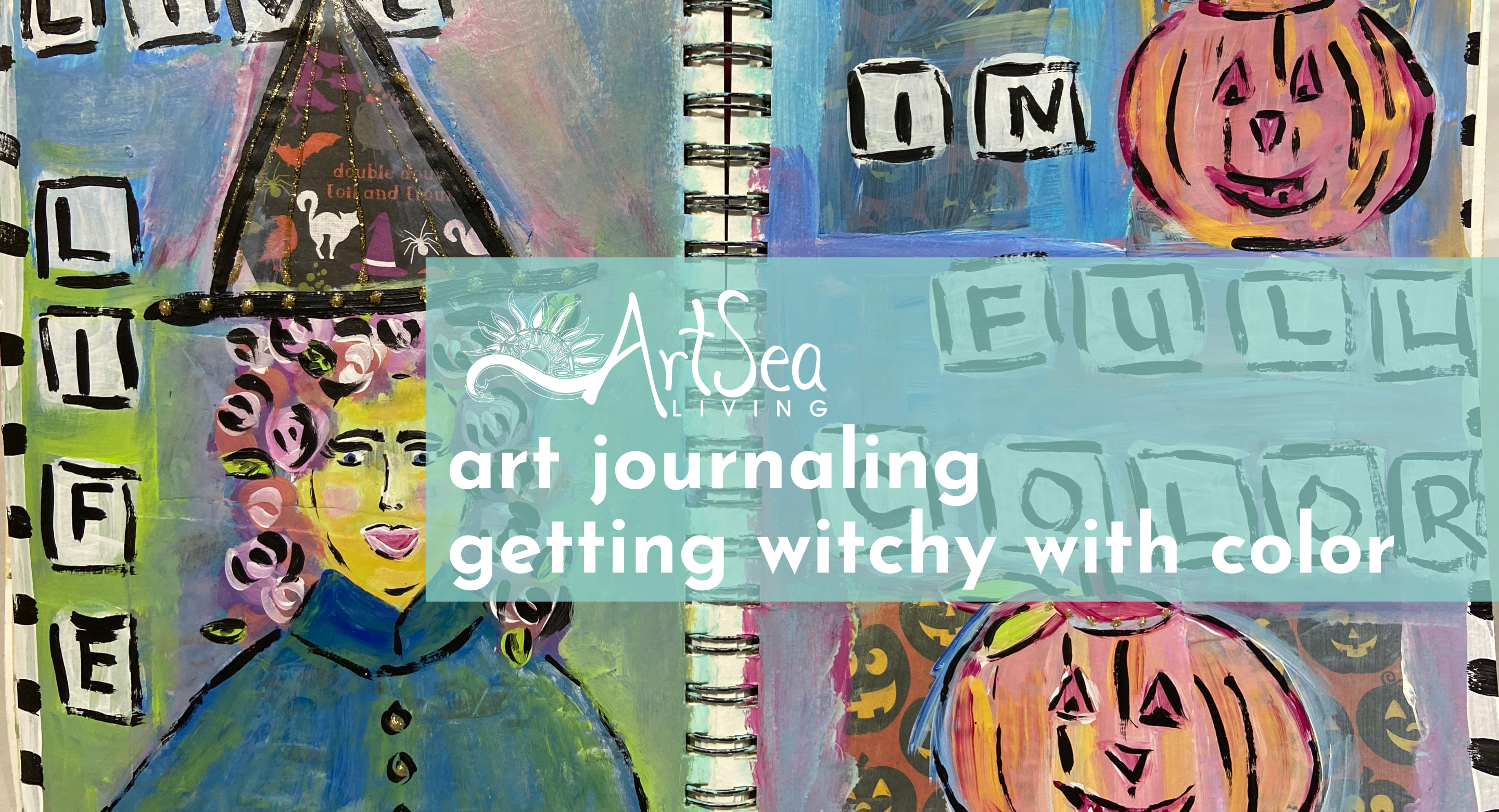 Art Journaling | Getting Witchy with Color