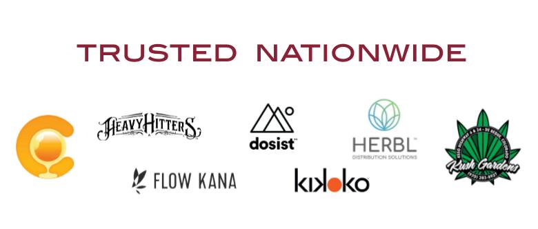 The Clear, Heavy Hitters, Flow Kana, Dosist, Herbl Distribution Solutions, Kikoko, Kush Gardens Colorado