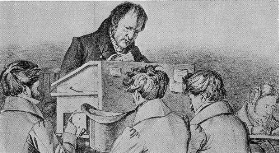 hegel lecturing