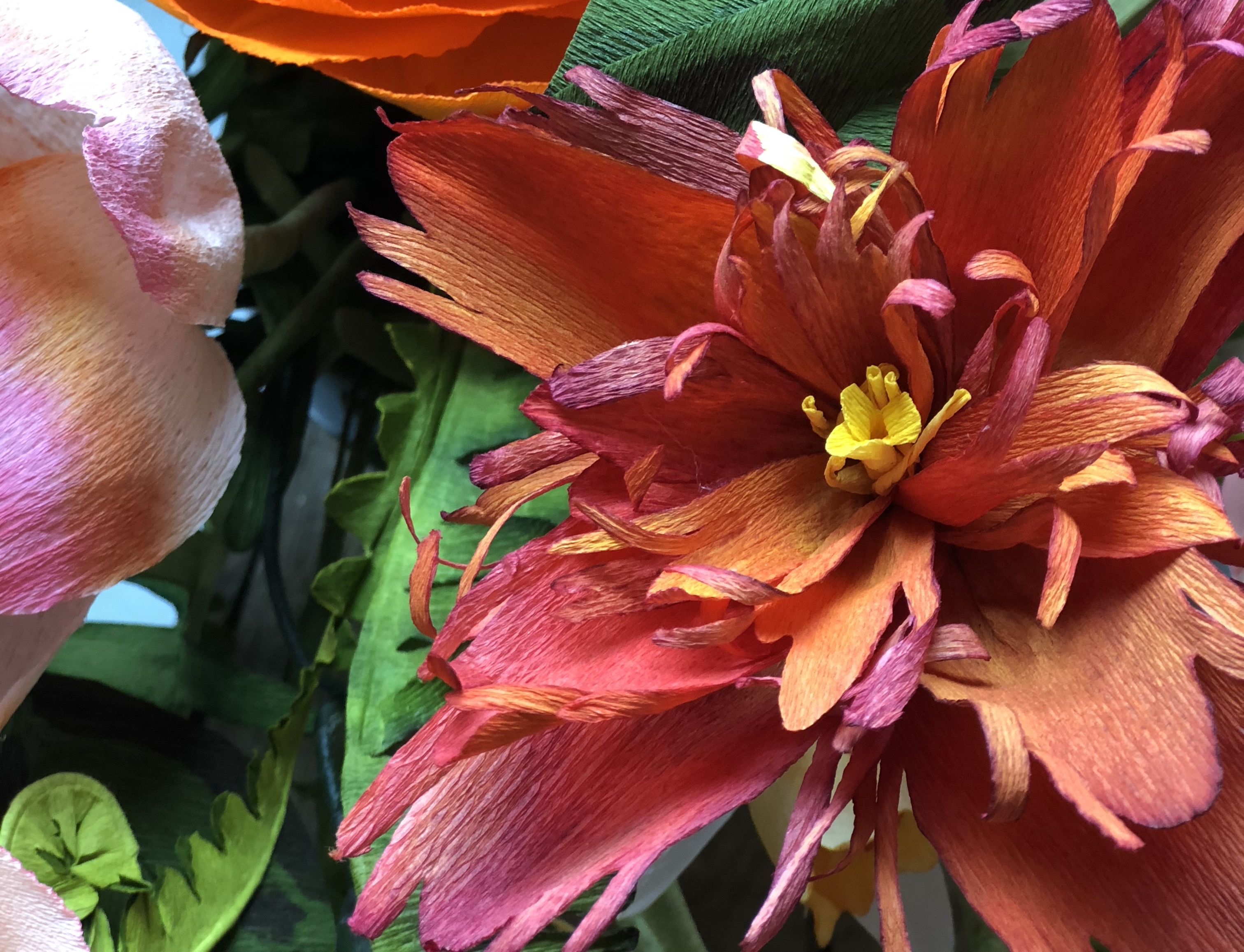 Paper parrot tulip