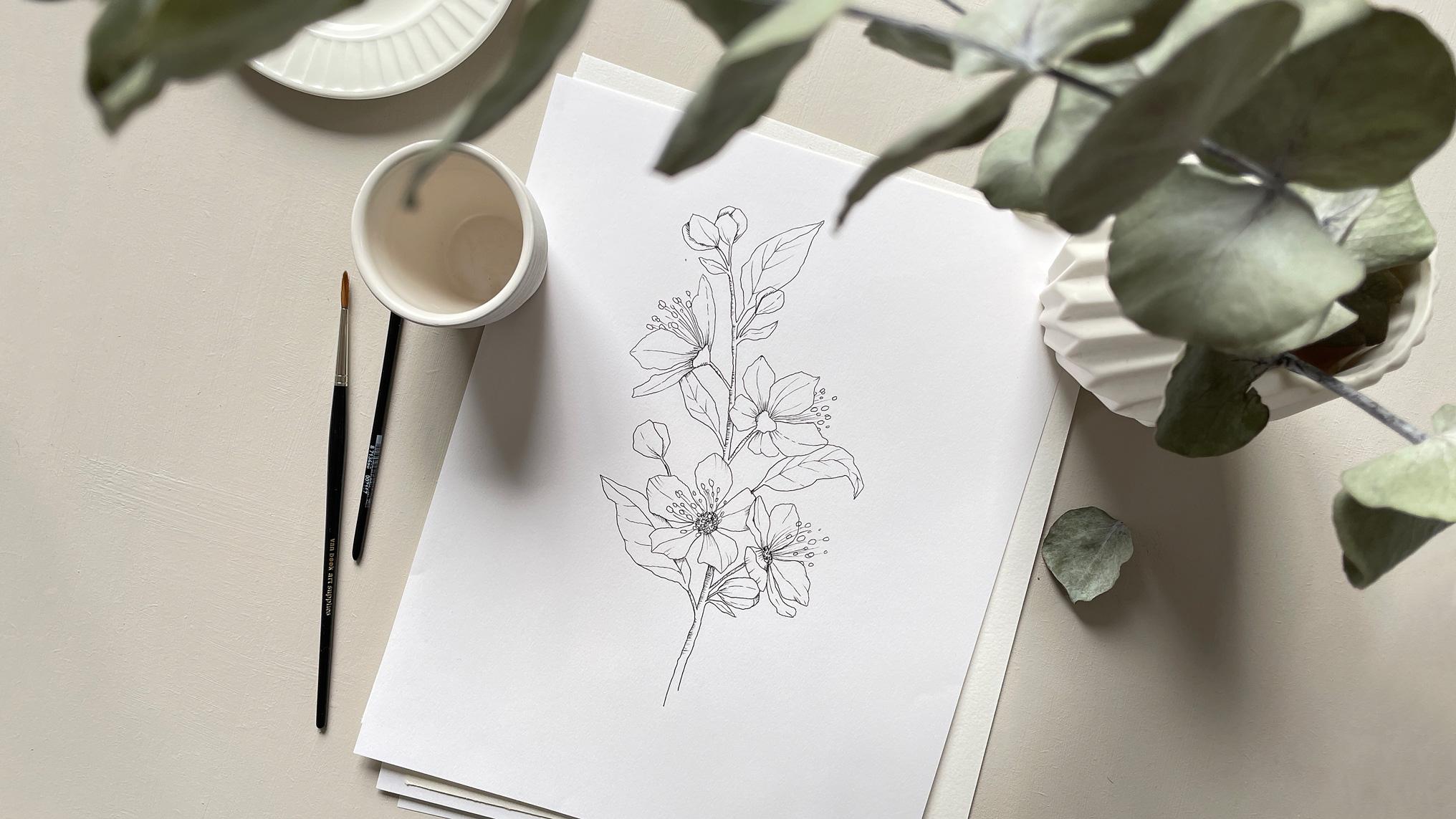 bloom creatives watercolor art classes eucalyptus