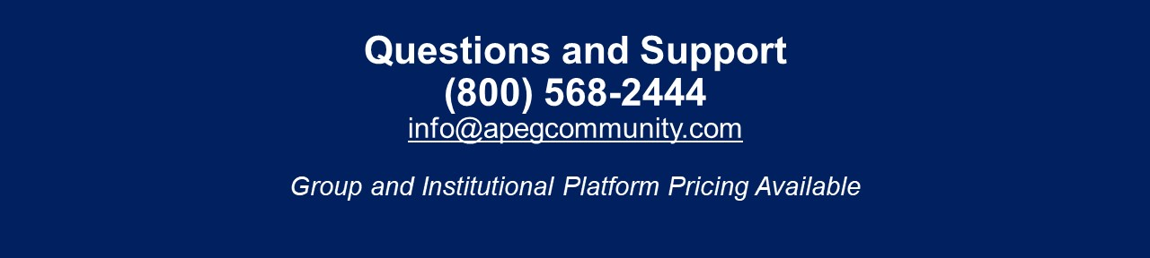 APEG Questions and Support