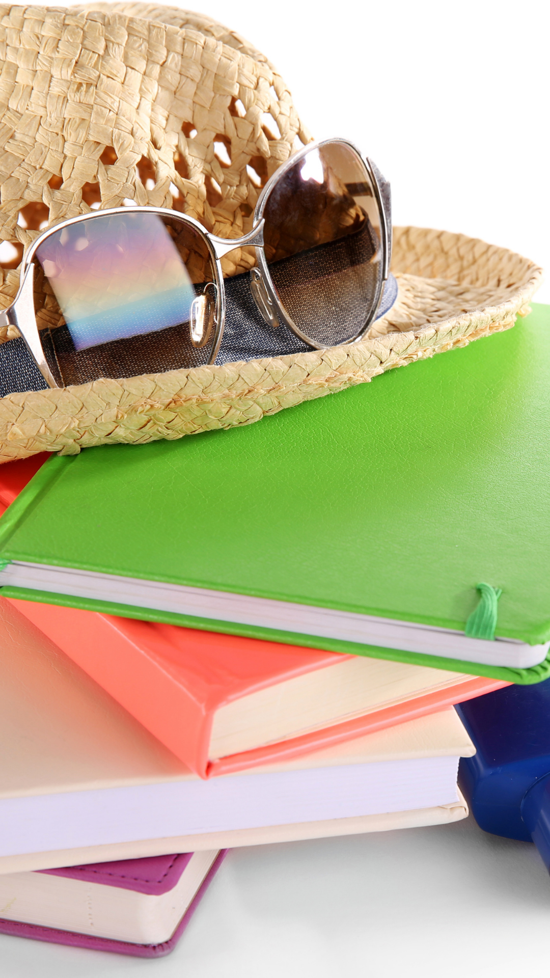 Journals with a beach hat