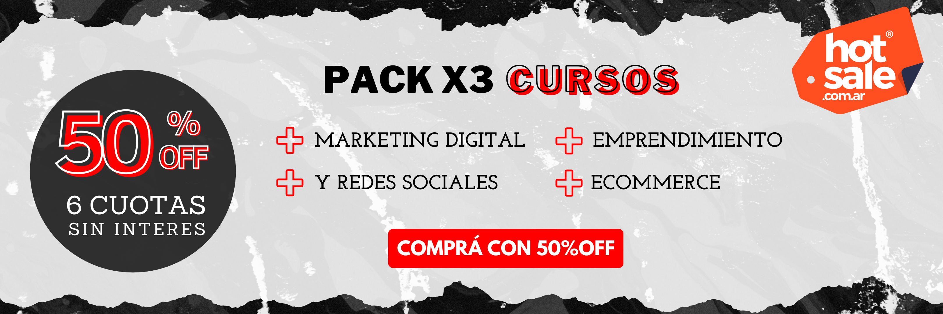 PACK x 3: Marketing Digital + Redes Sociales + eCommerce + Emprendimiento
