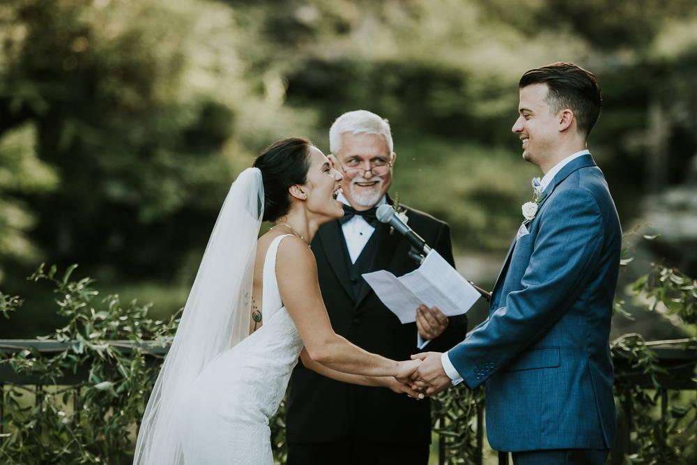 Dad officiating wedding ceremony