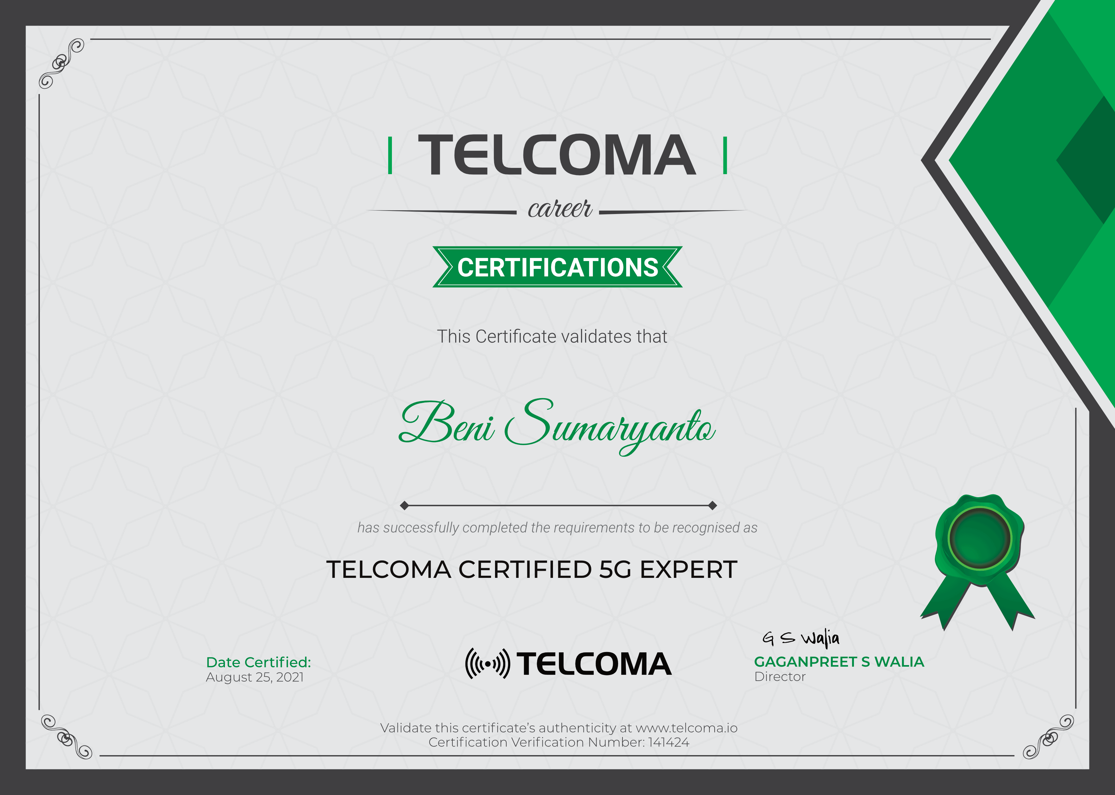 telcoma career certifications