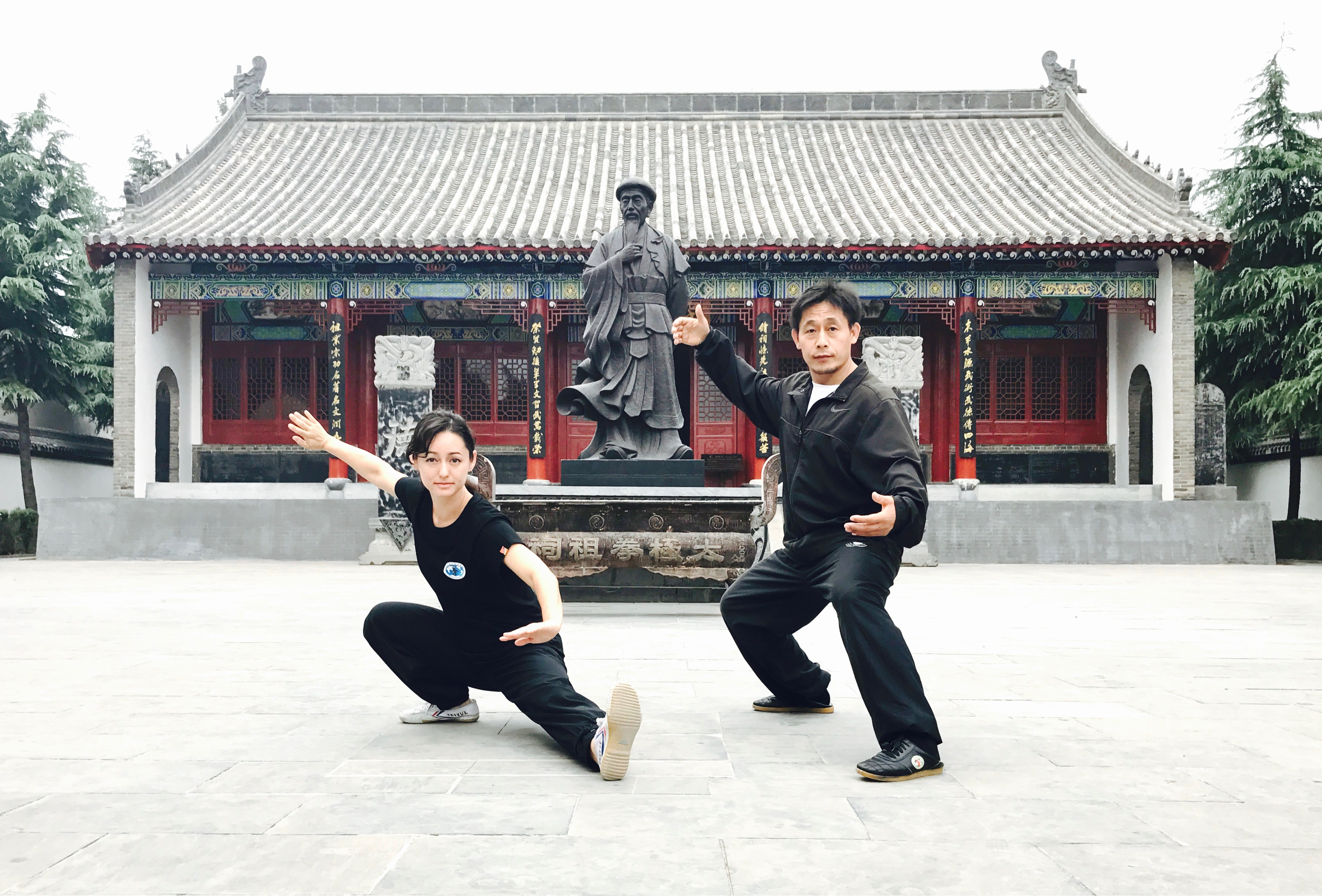 Alicia McGrannin Chenjiagou China with Chen Ziqiang