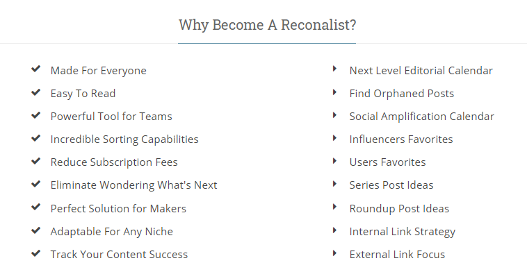 Why become a reconalist?