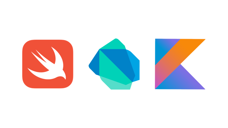 Logos Swift, Dart et Kotlin
