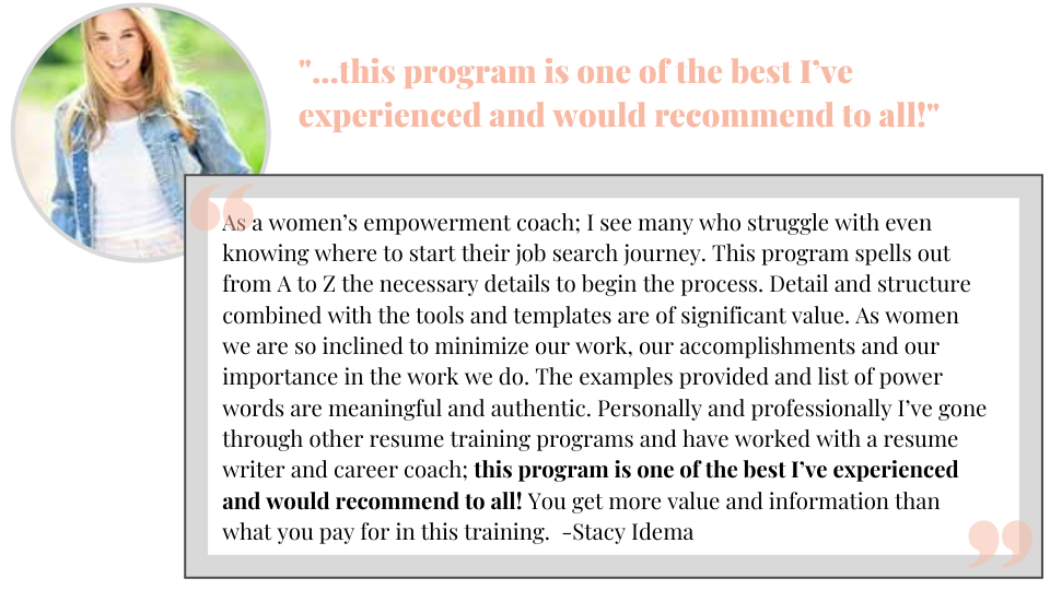 course testimonial