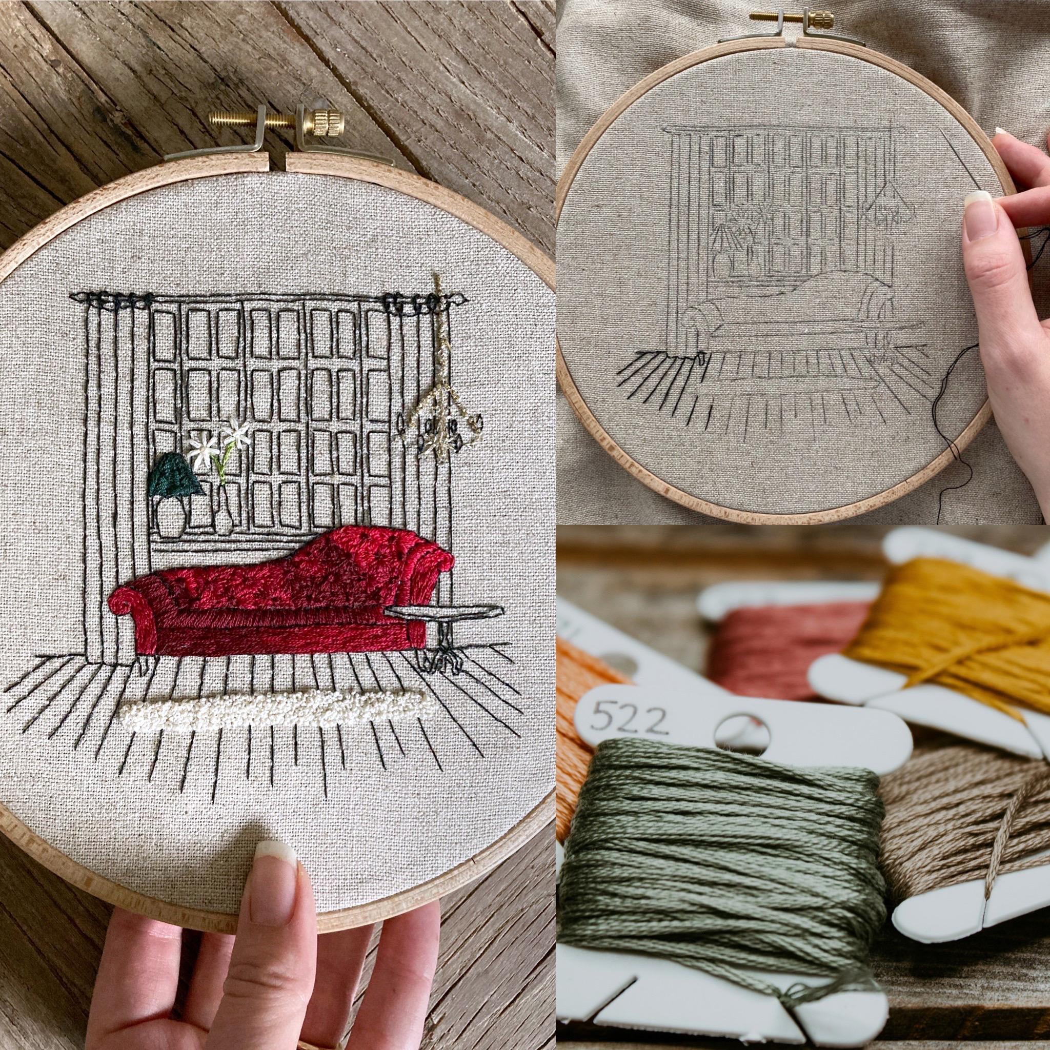 embroidery interior design