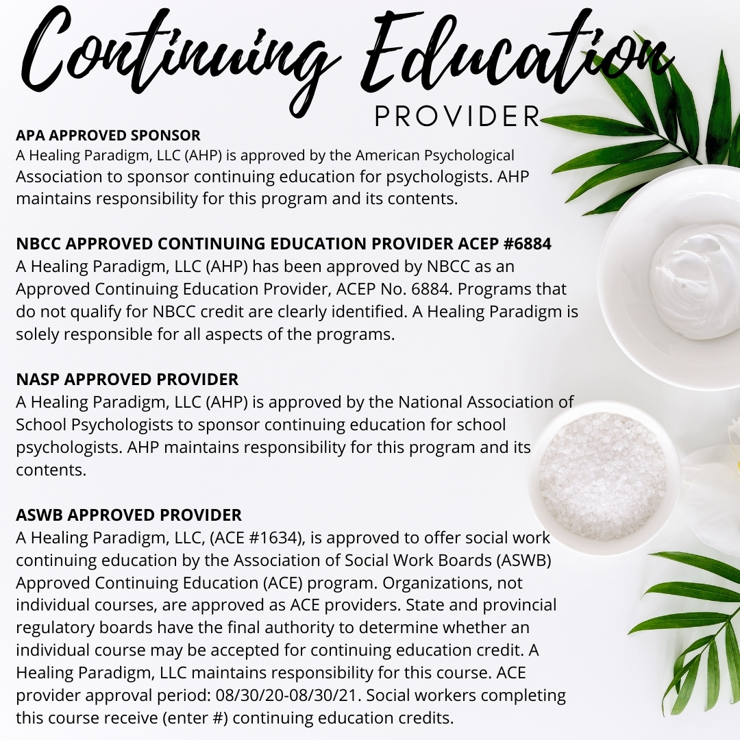 Continuing Education Approvals