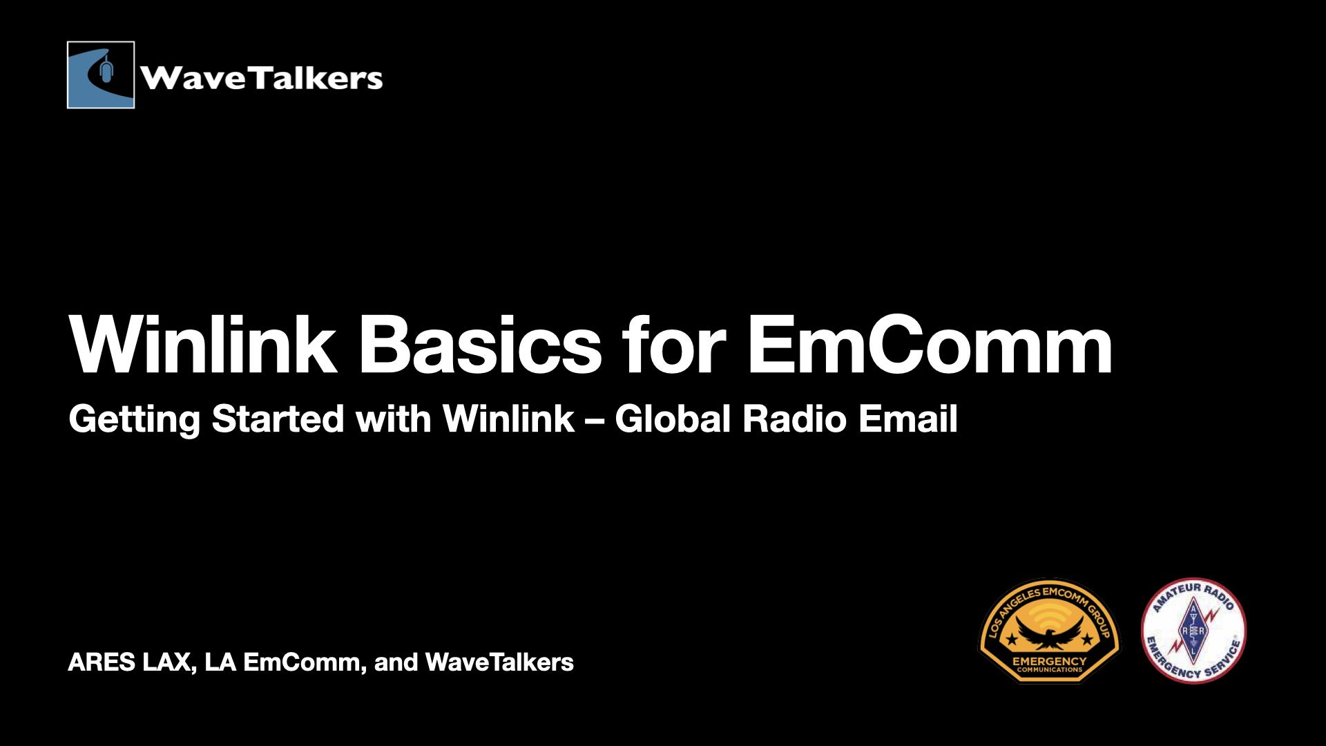 Winlin Basics for EmComm