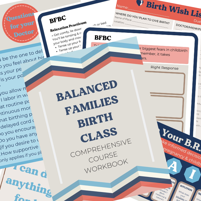 balanced families birth course workbook