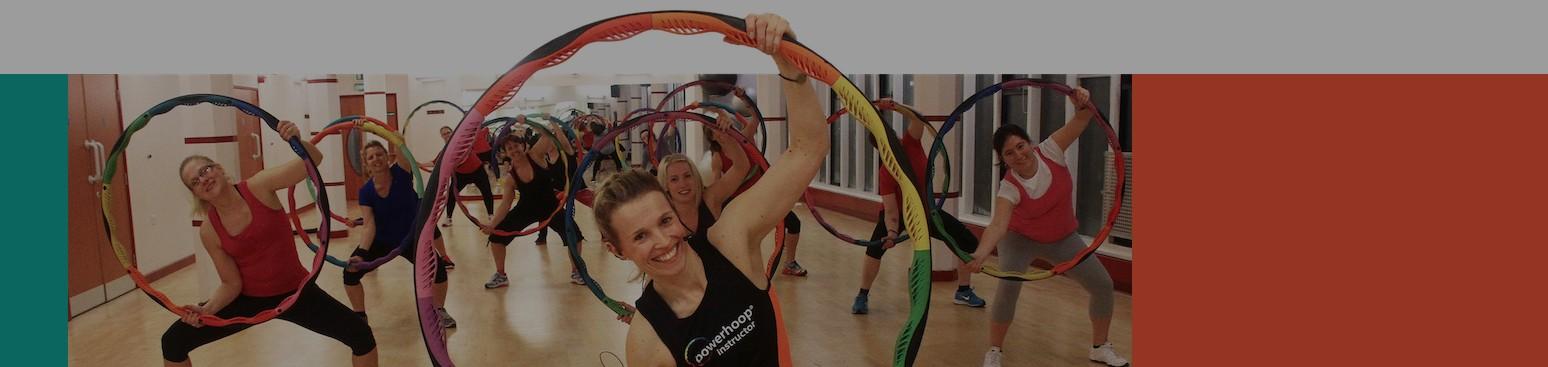Bodyhoop Instructor Teaching a Fitness Hoop Class