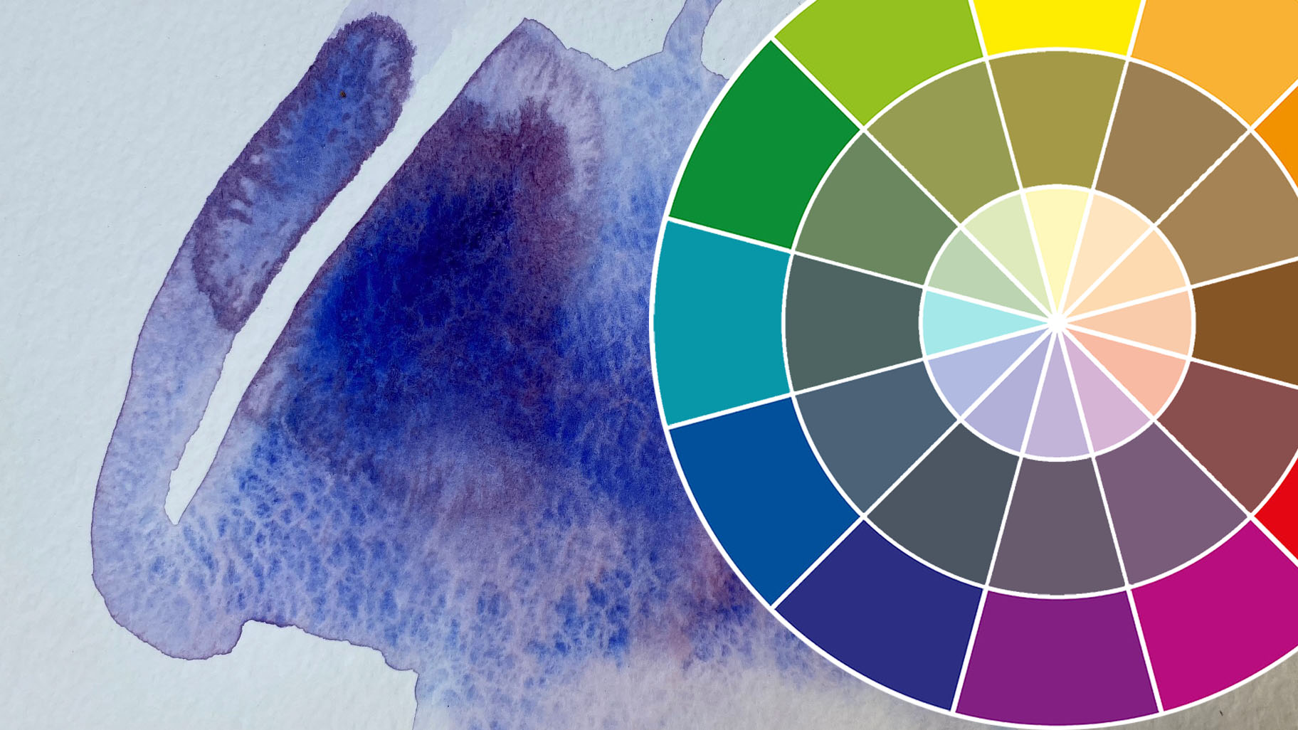 Color theory and watercolor techniques course