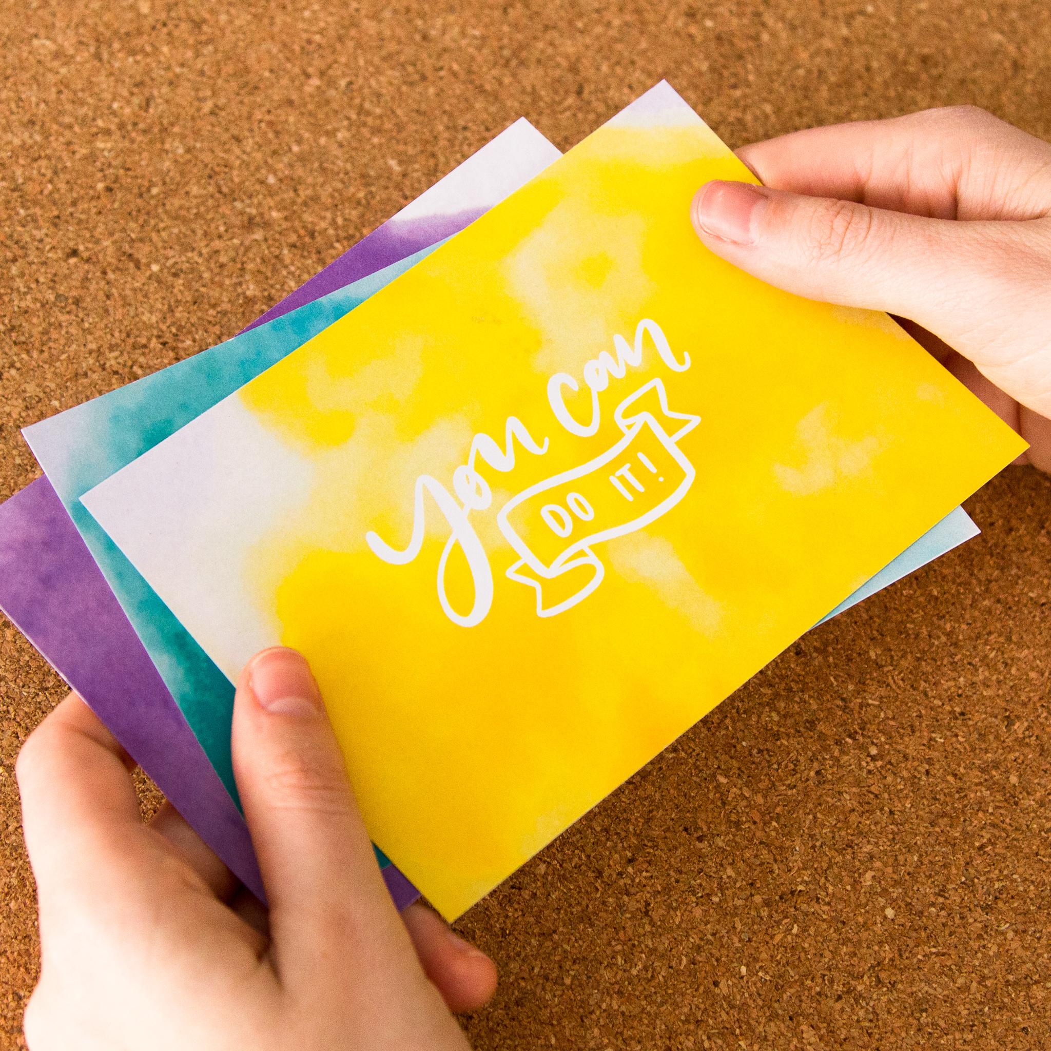 Postkarten im Brushlettering-Stil
