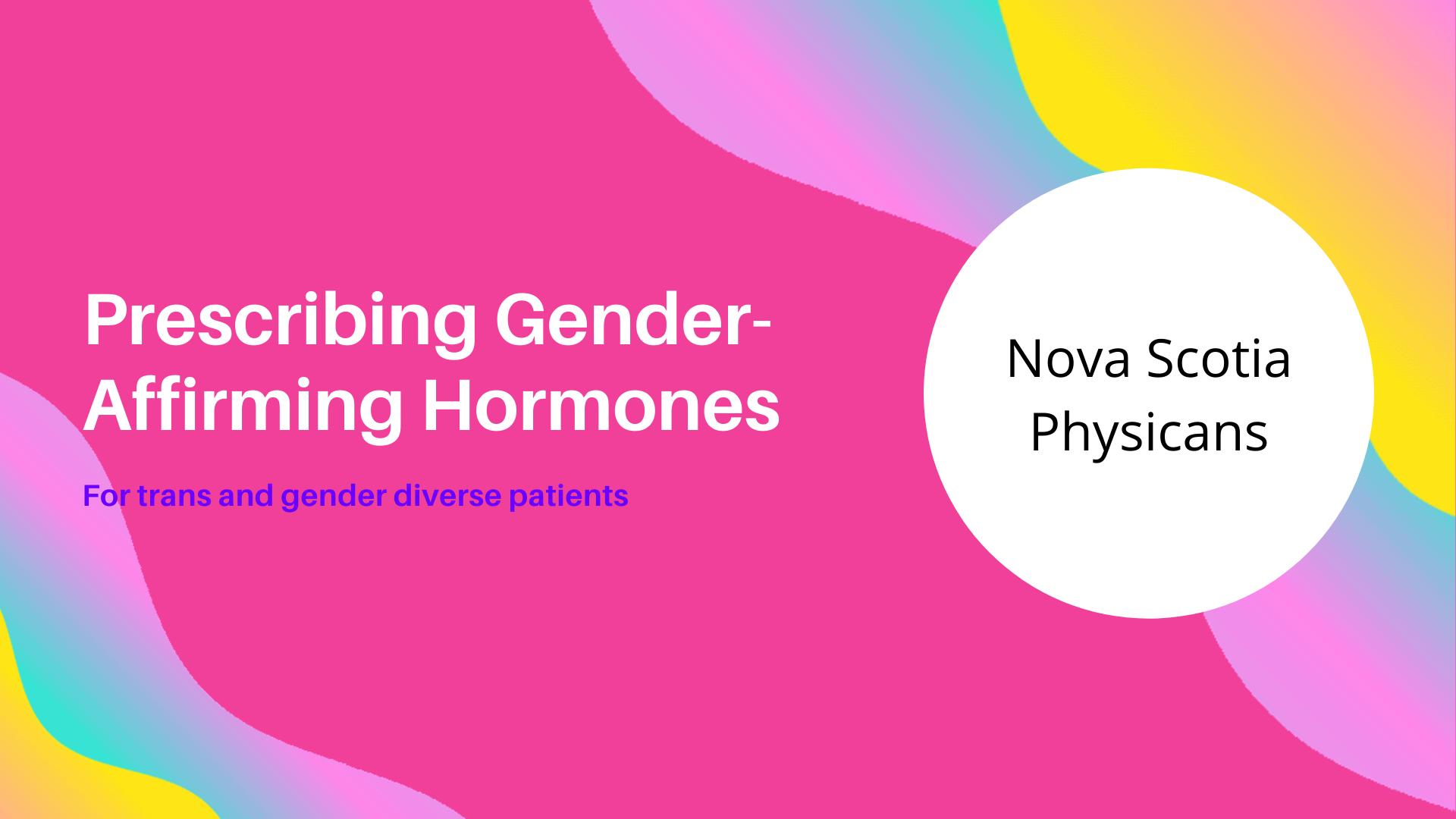 Gender-Affirming Hormone Prescription Training