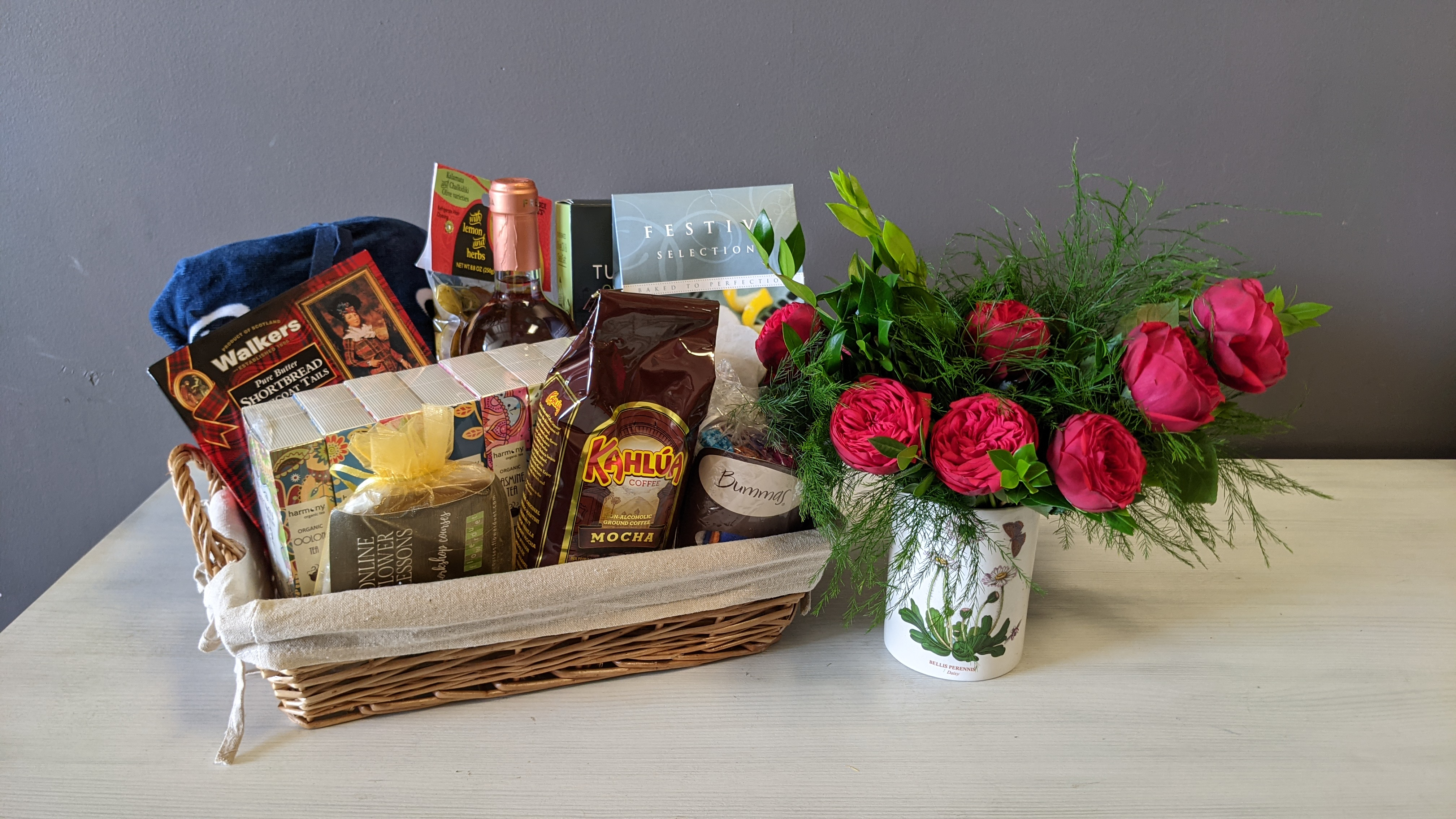 Gift Baskets + Flowers