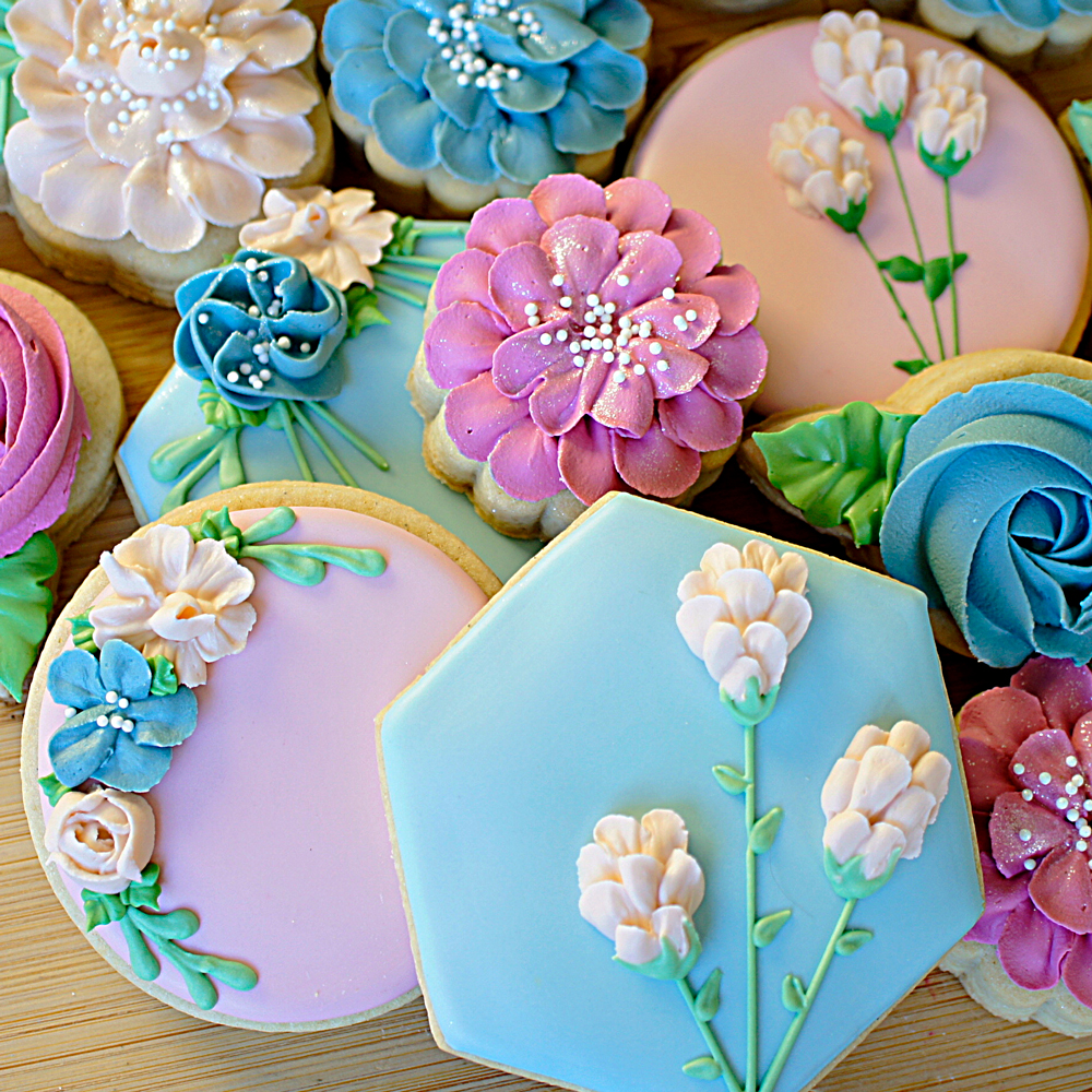 beautiful floral icing designs