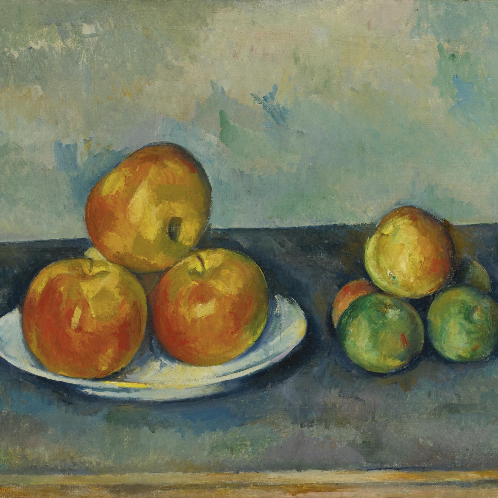Cezanne fruit still life