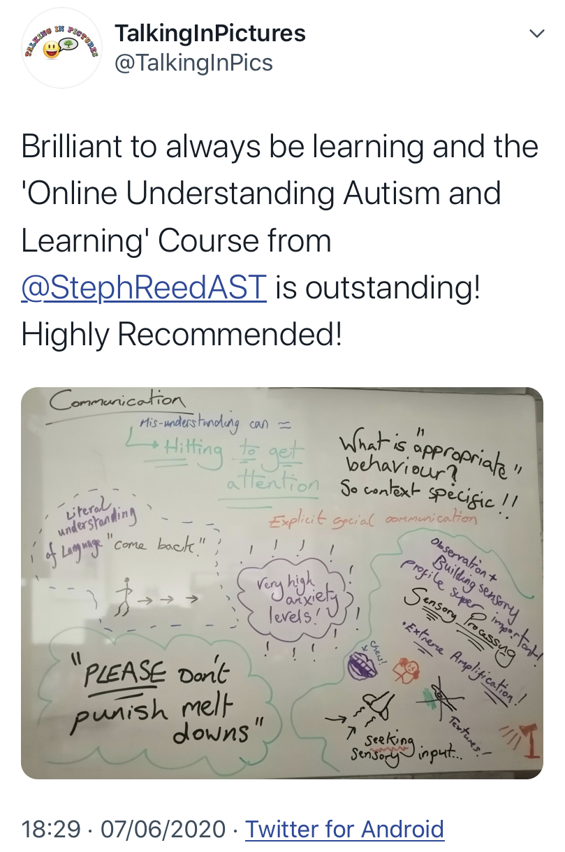 understanding autism and learning course