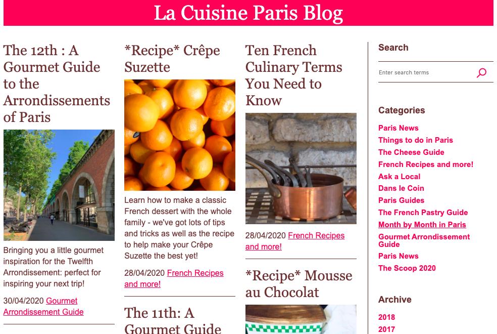 La Cuisine Paris Blog