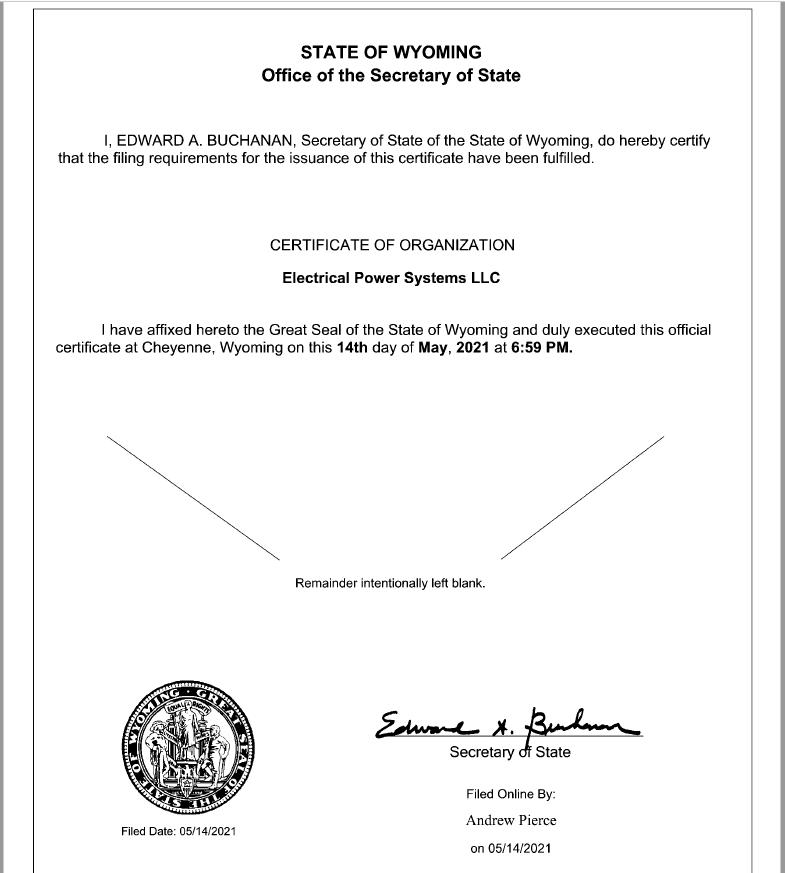 EPS LLC - Electrical Power Systems LLC
