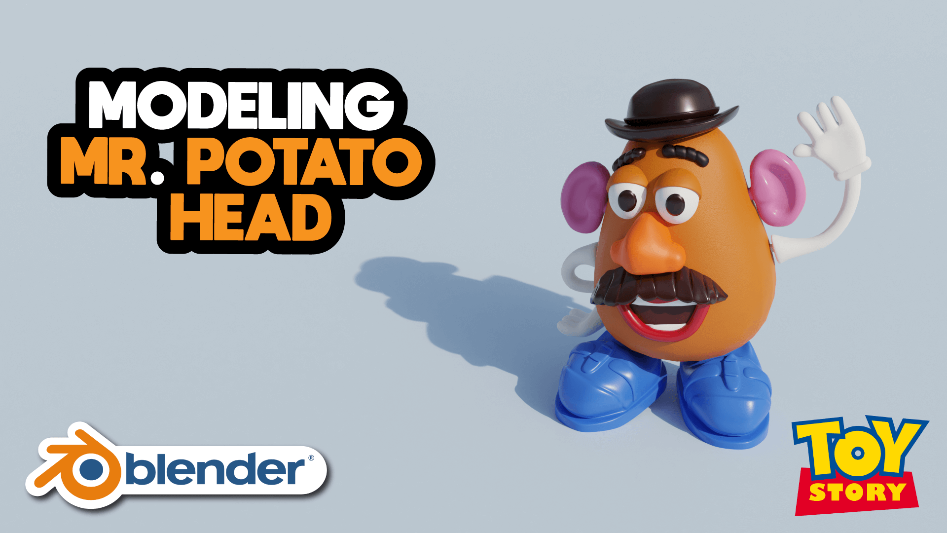 Mr. Potato Head Toy Story Character 3D Blender Academy Course