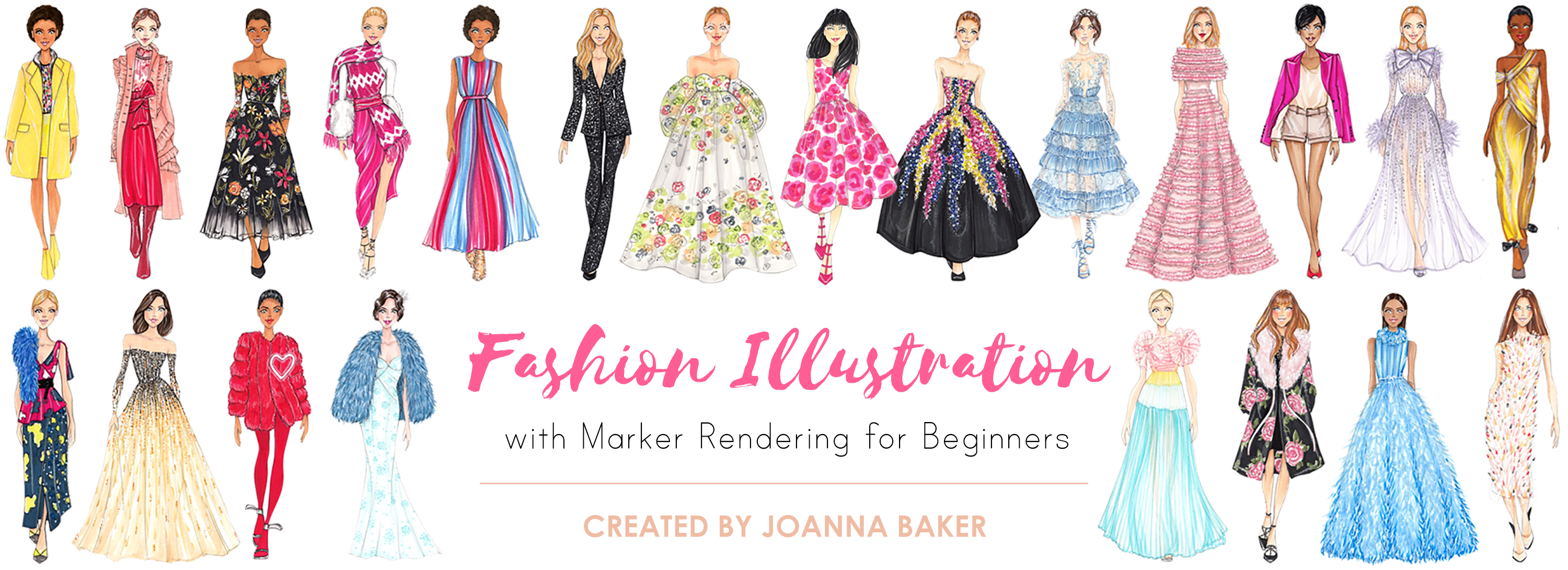 Fashion Illustration with Marker Rendering for Beginners