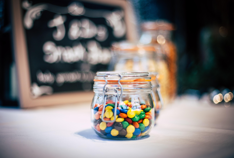 smarties in a jar