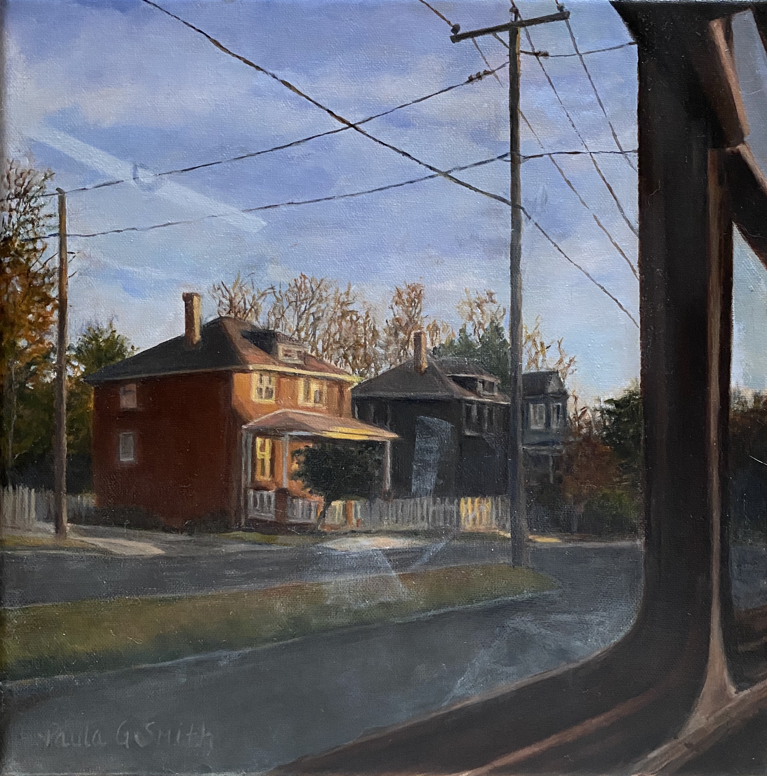 Oil painting of a house, testimonial from student, Paula Smith of RL Caldwell Studio