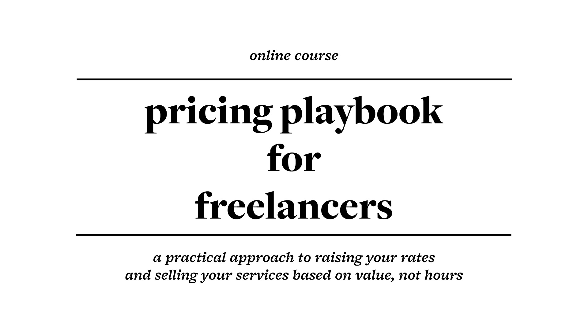 pricing playbook