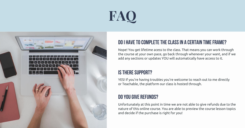 online course FAQ