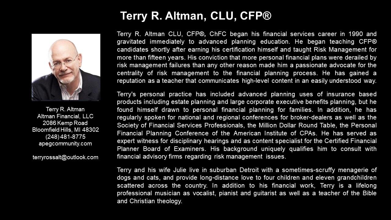 APEG Terry Altman