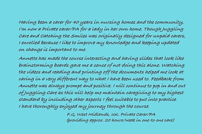 Testimonial written on a card