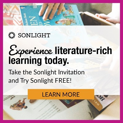Sonlight Curriculum Gold Sponsor of the 2020 Charlotte Mason Inspired Online Homeschool Conference.