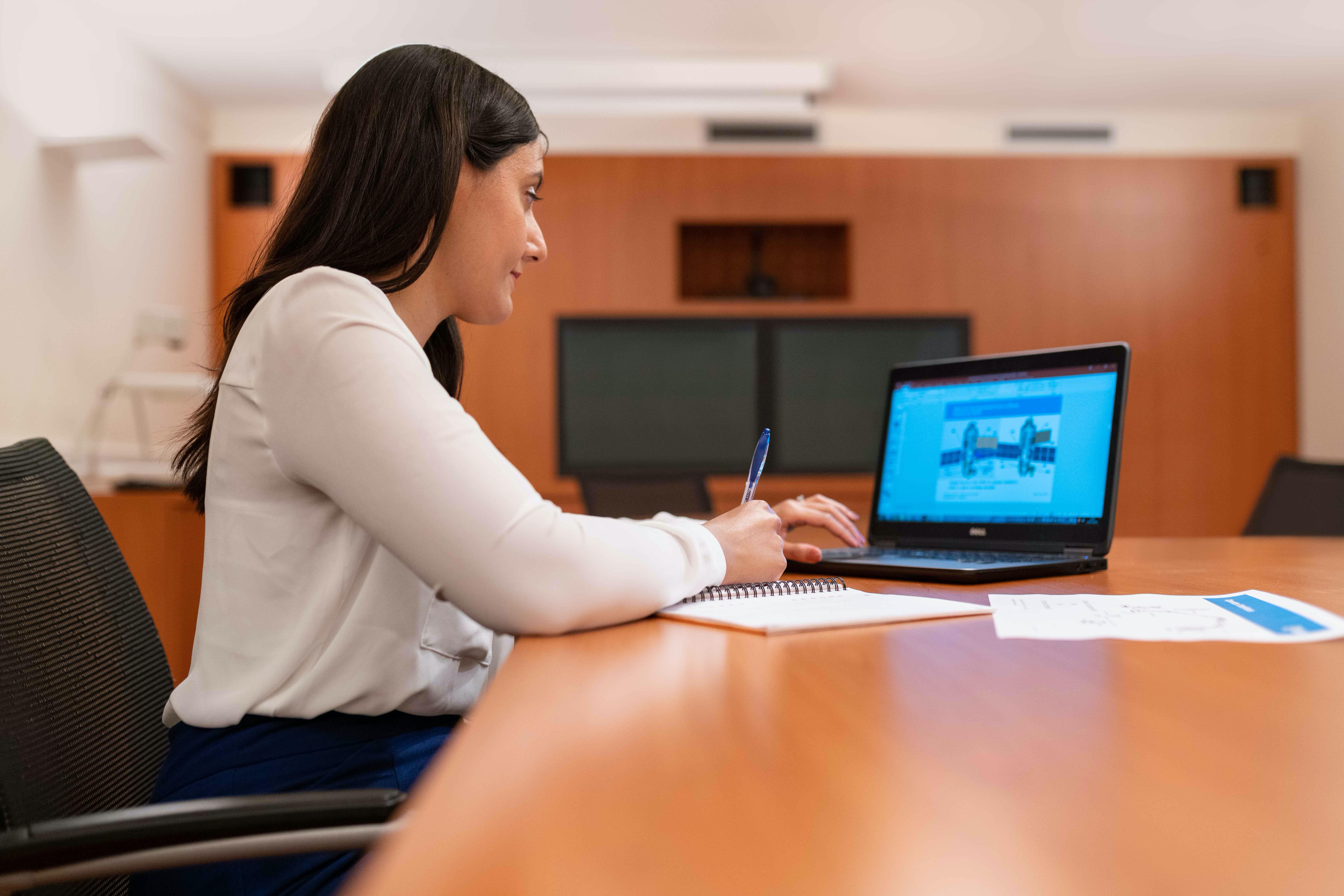woman doing online professional development