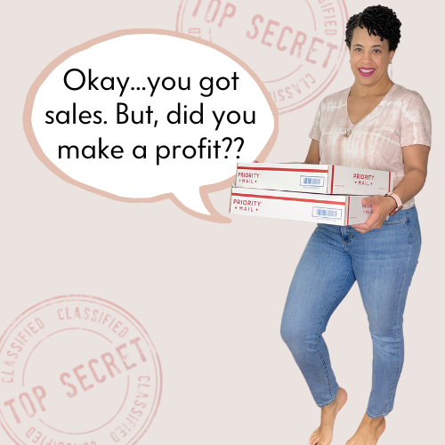 A woman is holding a stack of packages that need to be mailed.