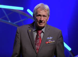 Image of Pathways for Veterans founder, Gary Ferguson speaking at a conference.