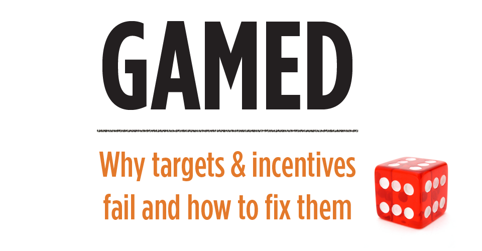 GAMED course header - Why targets and incentives fail and how to fix them