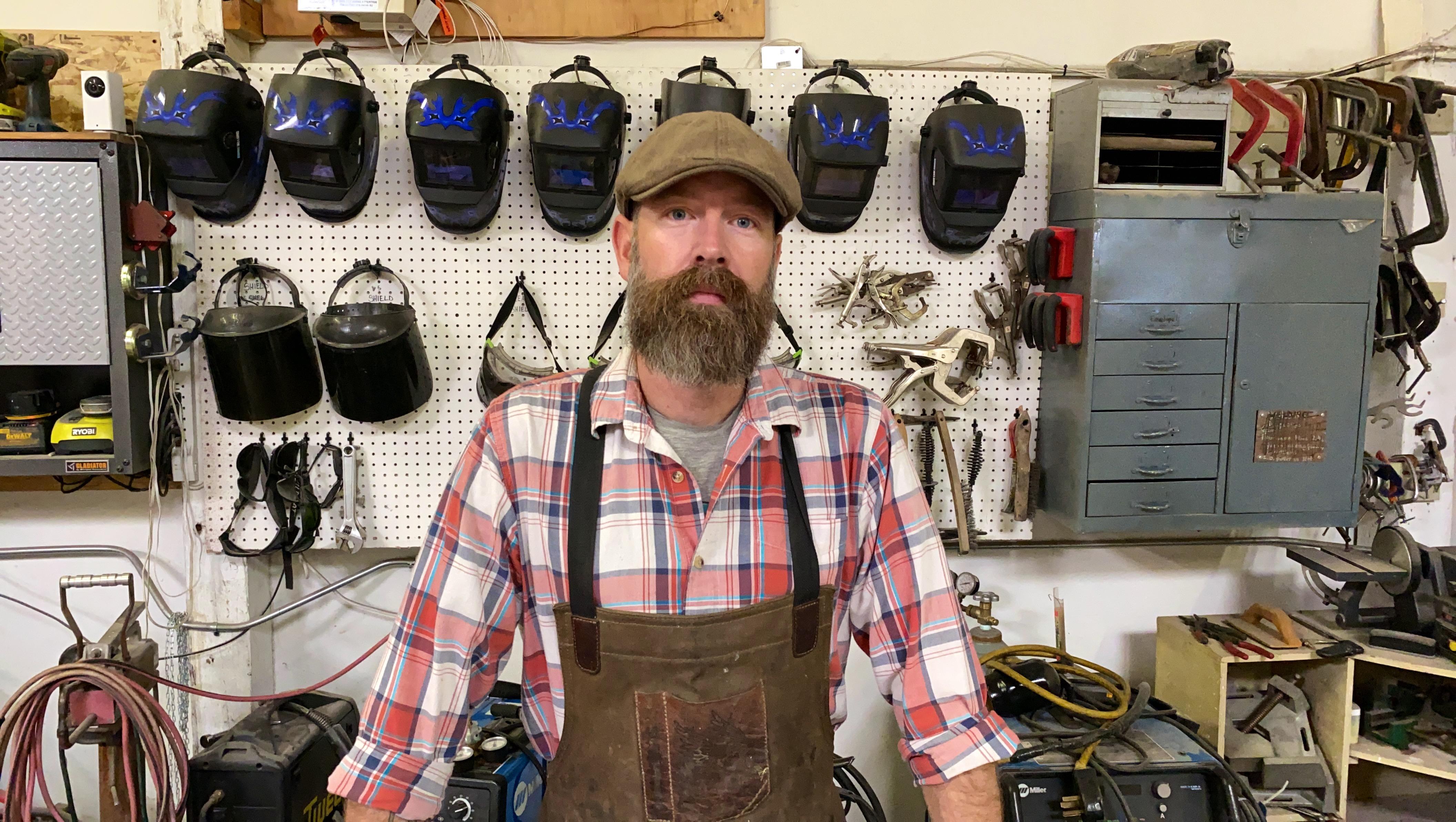 Yori Seeger blacksmithing instructor, sculptor