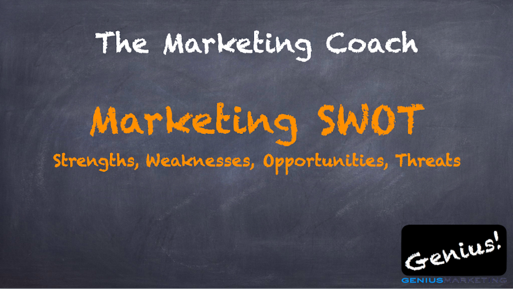 The Marketing Coach Marketing SWOT Strengths, Weaknesses, Opportunities, Threats