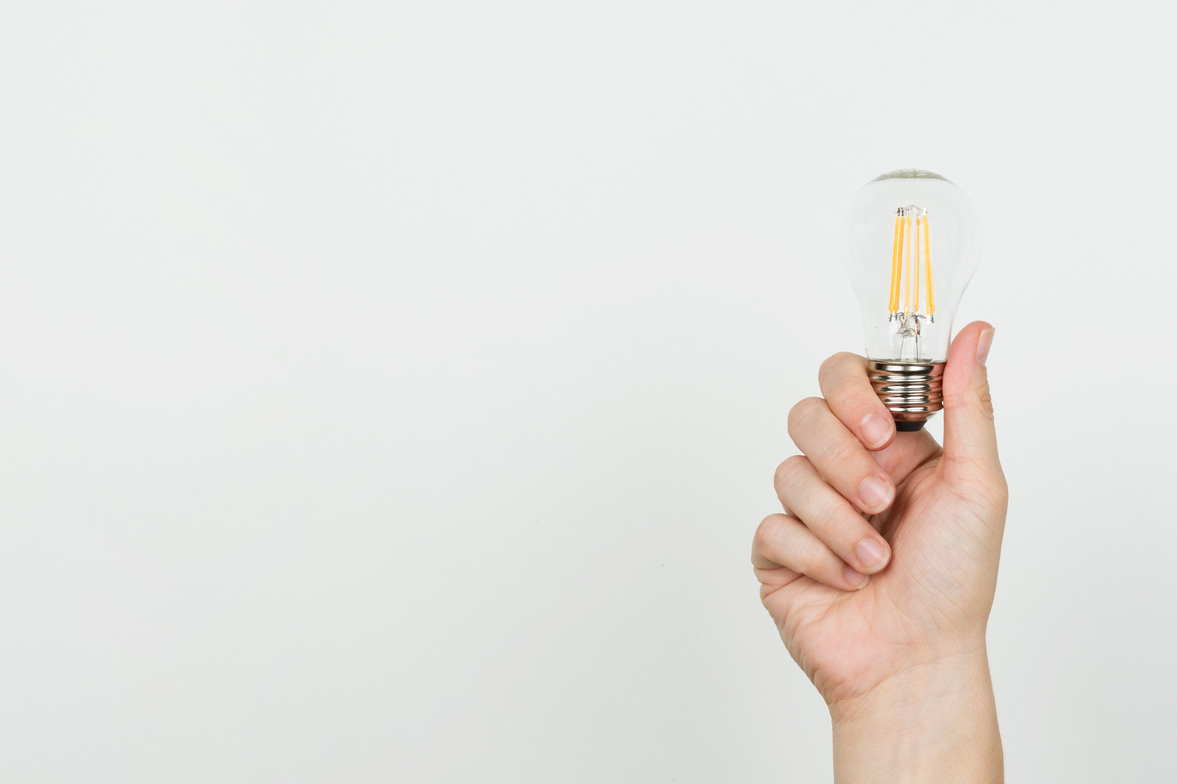 Hand with lightbulb - Inspiration