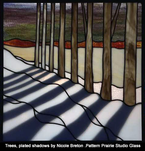 plated stained glass Nicole Breton-pattern Prairie Studio Glass